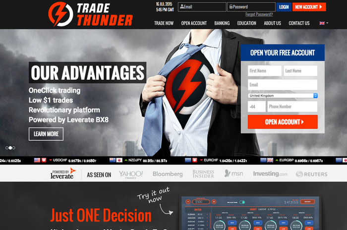 trading thunder binary options review 2018